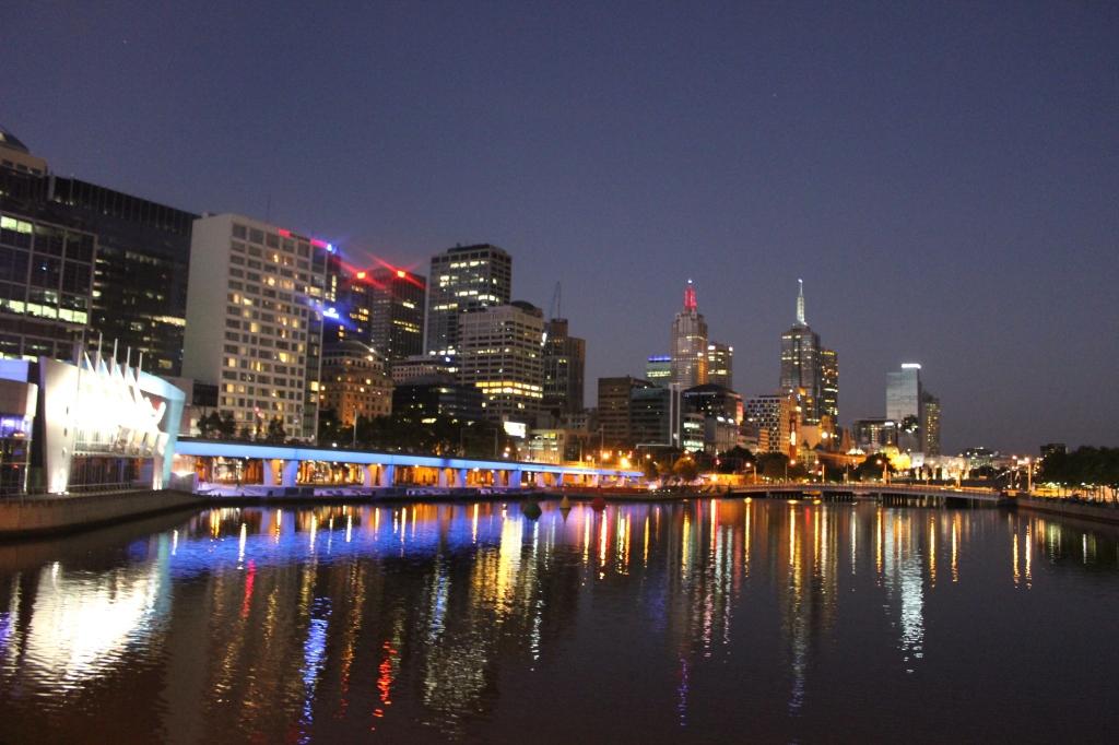 Yarra River by night